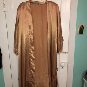 Other - Gold Satin Plus Size Robe